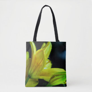 Yellow Lily With Wind Effect Tote Bag
