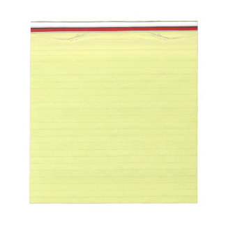 Yellow Lined School Paper Background Notepad