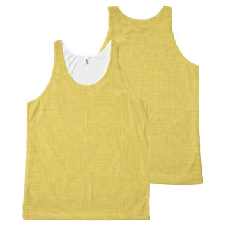 Yellow Linen All-Over Print Tank Top