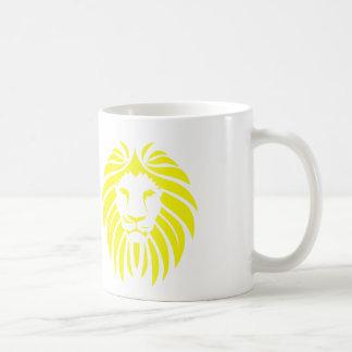 Yellow Lion Mane - White Coffee Mug