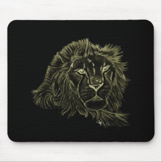 Yellow Lion Mouse Mat