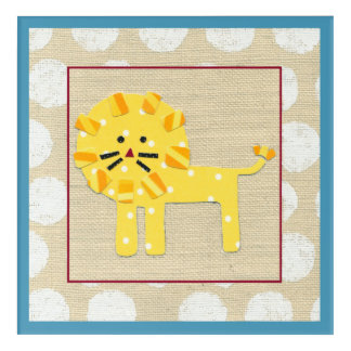 Yellow Lion with White Polka Dots Acrylic Print