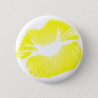 Yellow Lips 6 Cm Round Badge