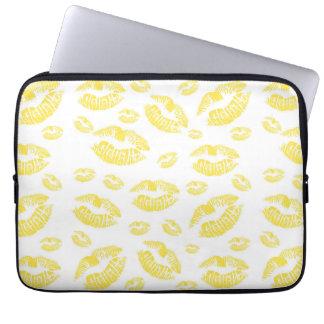 Yellow Lips Laptop Computer Sleeves