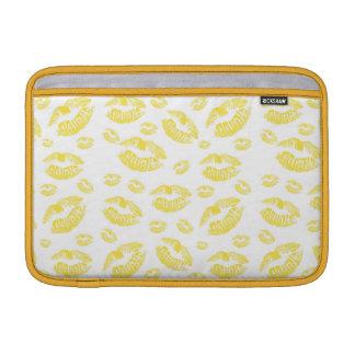 Yellow Lips MacBook Air Sleeves