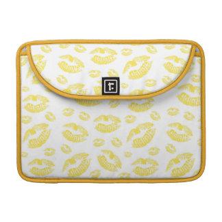 Yellow Lips Sleeve For MacBooks