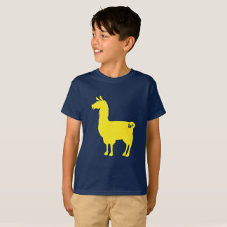 Yellow Llama Kids T-shirt