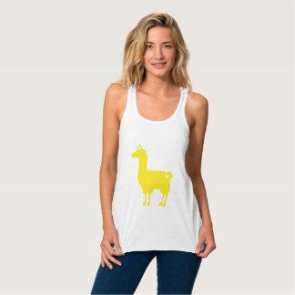 Yellow Llama Ladies Flowy Tank Top
