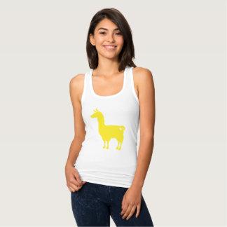 Yellow Llama Ladies Tank Top