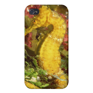 Yellow longsnout seahorse iPhone 4/4S case