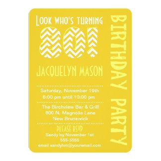 Yellow Look Who's Turning 80 Birthday Invitation