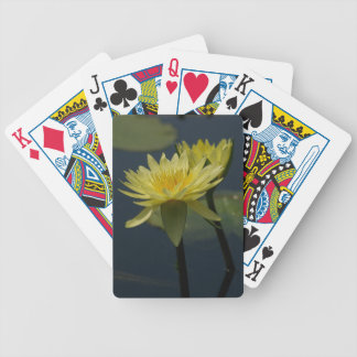 Yellow Lotus Waterlilies Playing Cards
