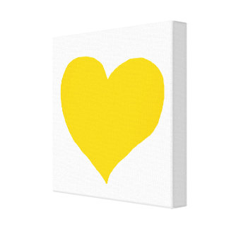 yellow-love-heart gallery wrap canvas