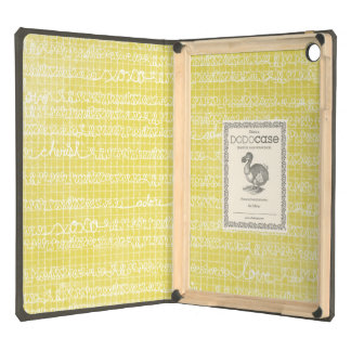 Yellow Love Words DODOcase iPad Air Case