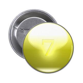 Yellow Lucky 7 Button