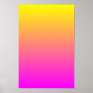 Yellow Magenta Gradient Poster