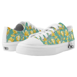 Yellow Magnolia Spring Bloom III Low Tops