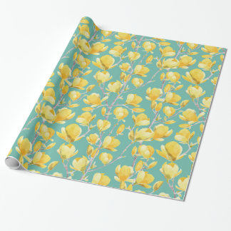 Yellow Magnolia Spring Bloom III Wrapping Paper