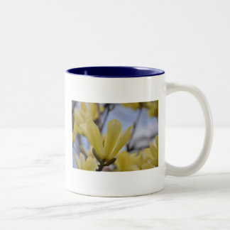 Yellow Magnolia Tree Two-Tone Coffee Mug
