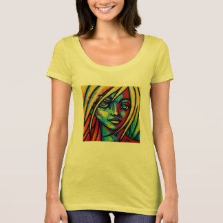 Yellow makeup paint tee