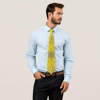 Yellow Mandala Tie