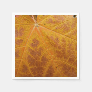 Yellow Maple Leaf Autumn Abstract Nature Disposable Serviette