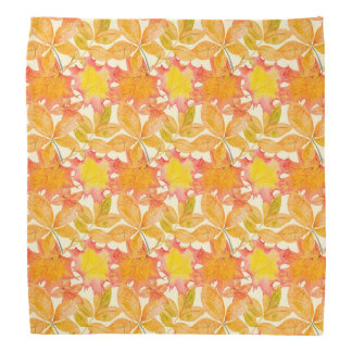 Yellow Maple Leaves Bandana