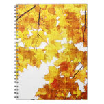 yellow maple leaves notebook