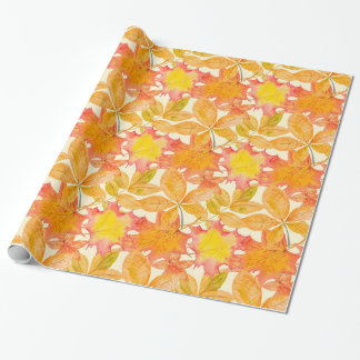 Yellow Maple Leaves Wrapping Paper