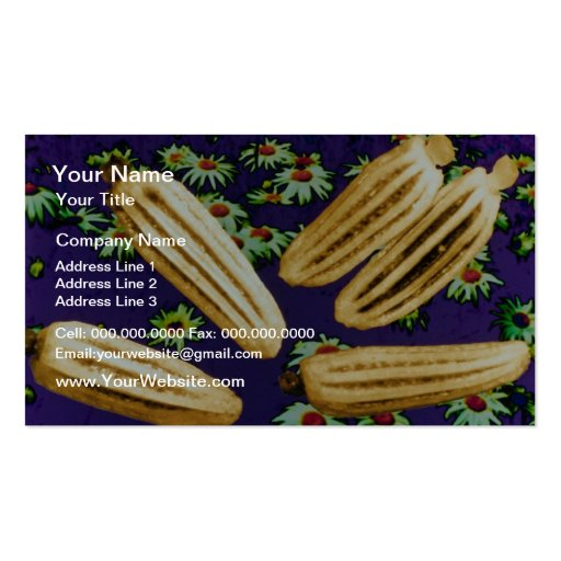 yellow Marguerite seeds (Bellis perennis) flowers Business Card