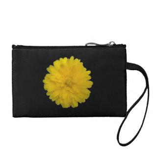 Yellow Marigold Bagettes Bag Coin Wallet