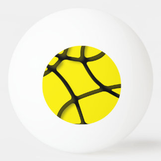 Yellow Maze One Star Ping Pong Ball