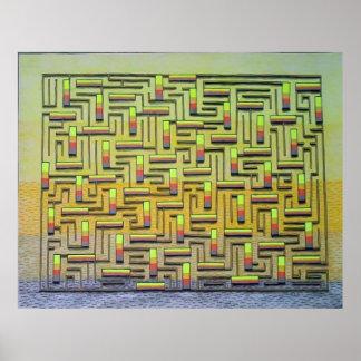 Yellow Maze Poster