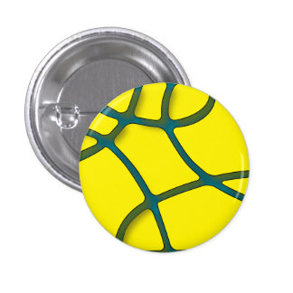 yellow Maze Small, 1¼ Inch Round Button