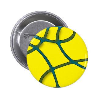 Yellow Maze Standard, 2¼ Inch Round Button