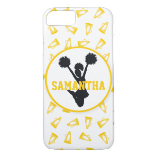 Yellow Megaphones and Cheerleader Personalized iPhone 7 Case