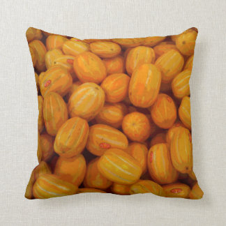 Yellow Melons in a Posterised Print Cushion