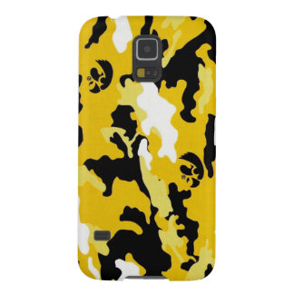 yellow military camouflage textures galaxy s5 covers