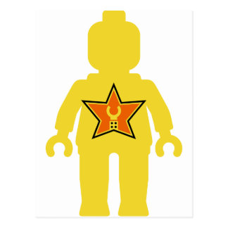 Yellow Minifig with Customize My Minifig Logo Post Cards