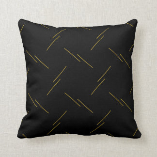 Yellow Minimalist Striped Pattern Cushion