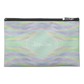 Yellow Mint Lilac Travel Accessory Bag