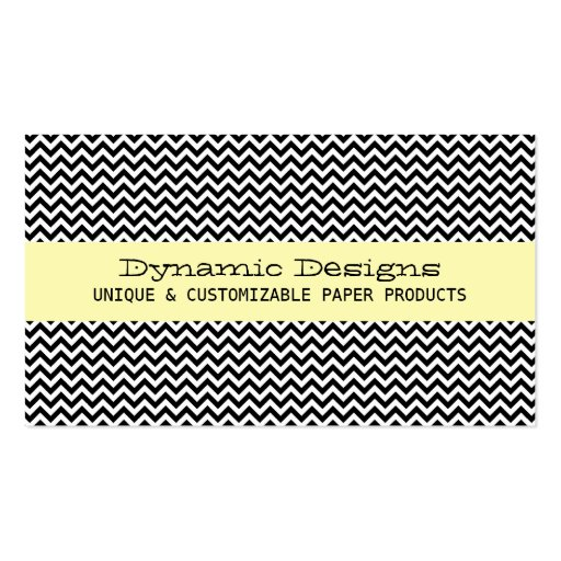 Collections of chic chevron zigzag pattern business cards yellow modern chevron business card colourmoves