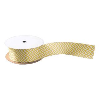 Yellow Modern Chevron Stripes Satin Ribbon