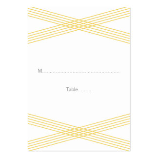 Yellow Modern Deco Wedding Place Cards Large Business Cards (Pack Of 100)
