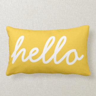 Yellow Modern Hello Throw Pillow