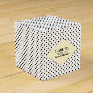 Yellow Modern Polka Dots Wedding Favour Box
