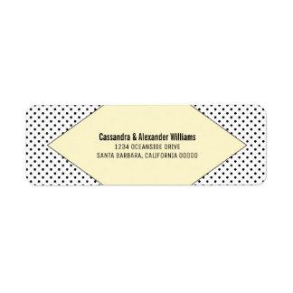 Yellow Modern Polka Dots Wedding Return Address Label