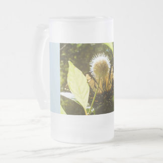 Yellow Monarch Frosty Glass Mug