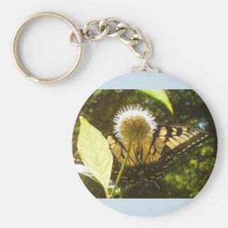 Yellow Monarch Summer Keychain