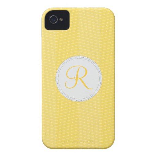Yellow Monogram Blackberry Bold Case